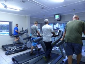 Cardio training at gym