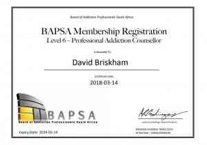 David- Briskham BAPSA Certificate