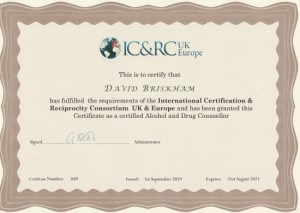 IC&RC UK Europe Certificate David Briskham
