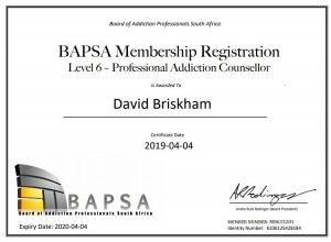 BAPSA Certificate David Briskham