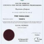 Piwe Social Worker Certificate