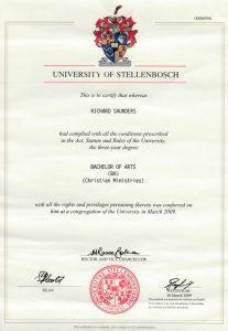 Richard Saunders University Degree