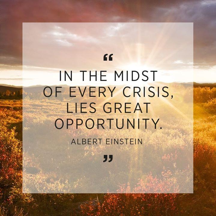 Crisis Creates Opportunity